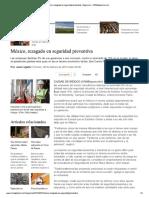 Mexico Rezagado en Seguridad Preventiva