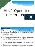 Solar Operated Deser Cooler