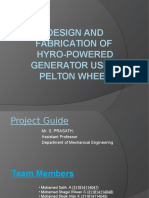 Design and Fabrication of Hydro Power Sy