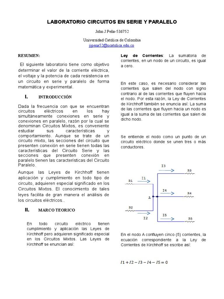 Circuito Significado : Laboratorio circuito en paralelo