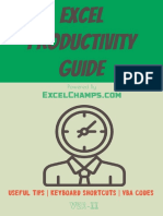 Excel Productivity Guide