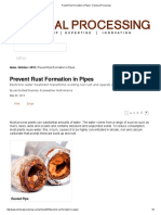 Prevent Rust Formation in Pipes _ Chemical Processing