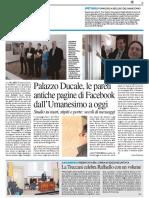 Palazzo Ducale, le pareti antiche pagine di facebook - Il Resto del Carlino del 30 marzo 2017