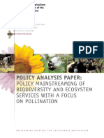 (43) Policy Mainstreaming of Biodiversity and Ecosystem Services With Focus on Pollination