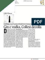 Gin e vodka, Collesi decolla - Il Corriere Adriatico del 1 aprile 2017