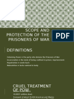 Scope and Protection of the Prisoners of War