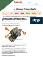 Parte 1 -Cómo Probar El Motor de Arranque en Banco