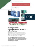Diesel Generator Havana – Robin – Medium