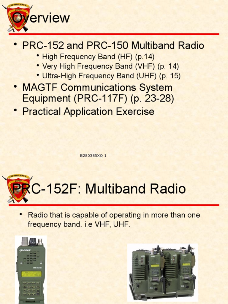 Communications Equipment II (1) | Very High Frequency | High
