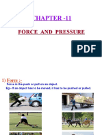 11 Force and Pressure