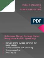 Rpi-publik Speaking & Teknik Presentasi