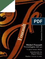 foucault - tecnologías del yo.pdf