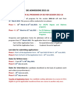 Admission Advertisement 10-3-2015