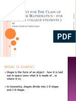English for Math-Shape
