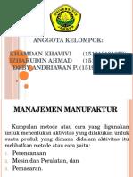 PPT Manajemen Manufaktur