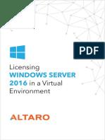 eBook - Windows Server 2016 Licensing