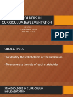 Stakeholders in Curriculum Implementation