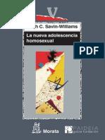 La Nueva Adolescencia Homosexua - Savin-Williams, Ritch C.(Author