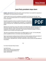100715 - Alberta Liberal Party President Steps Down