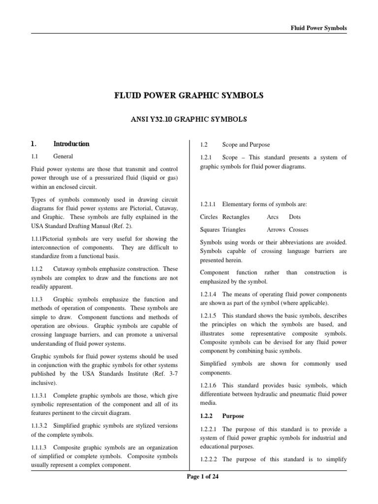 Fluid Power Symbols | Valve | Pump