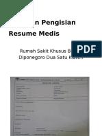 Panduan Resume Medis