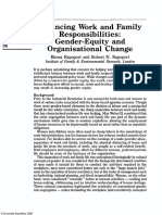 Balancing Work and Family Responsibilities - Gender-Equity and Organisational Change