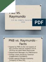 PNB vs. Raymundo case summary