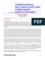 2nd International Technology Education and Environment Conference (TEEC2012)