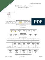 Sample - Concrete Frame Design Summary