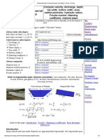 Trapezoidal Open Channel Design Calculations