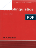 Sociolinguistics by R.A Hudson, Second edition free download