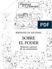 Sobre el poder historia natural de su crecimiento - Bertrand de Jouvenel