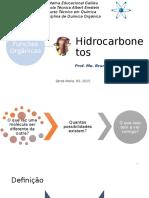 Funções Orgânicas - Hidrocarbonetos