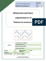 Lab 7 Metrología Medición de Armónicos