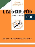 Haudry - L'Indo-européen (1979)