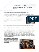 VSC April Newsletter for 2017