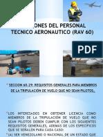 Funciones Del Personal Tecnico Aeronautico (Rav 60) Expo