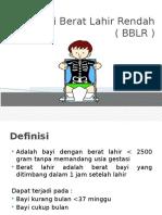 Bayi Berat Lahir Rendah ( BBLR ) Edit