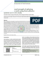 Evaluation of bond strength of splinting materials to the teeth using three adhesive systems-an in vitro study