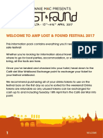 AMP Lost & Found Festival 2017 Information Pack