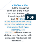 What Defiles a Man