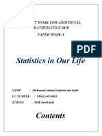 PROJECT WORK FOR ADDITIONAL MATHEMATICS 2010  PAPER WORK 4