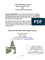 Dallas FASD Support Group Flier