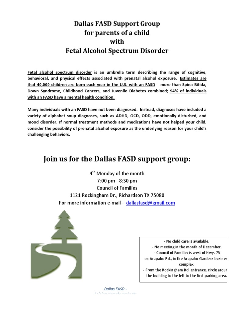 Dallas Fasd Support Group Flier Psychiatry Related Fields 52 Views