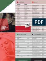 Tabela de Precos - Modelo Distribuidor 2016.2