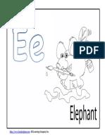 Preschool Alphabet Ee