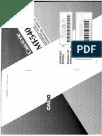 Casio MT-540 Manual