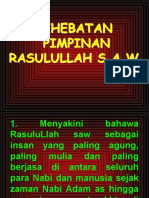 Kehebatan Pimpinan Rasulullah s.a.w.