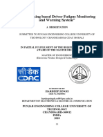 Thesis Report on Eye Tracking Based Driver Fatigue HARDEEP SINGH PEC University of Tech CHANDIGARH INDIA Hardeepsingh.ec08@Pec.edu.In