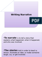 Narrative Writing CW